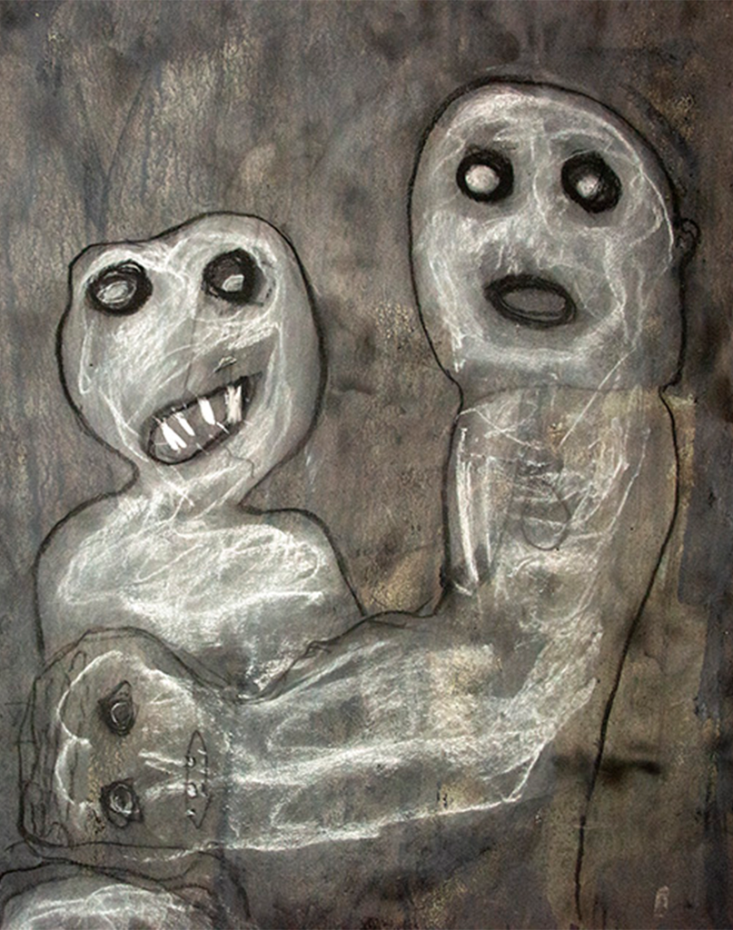 roger ballens drawing of childish ghouls