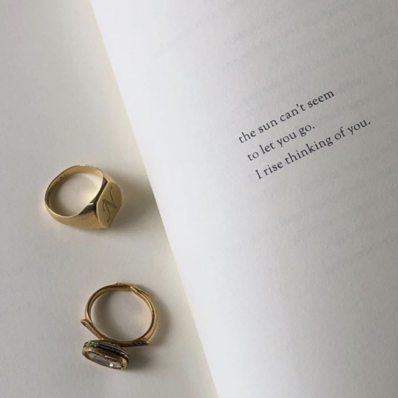Two rings on paper
