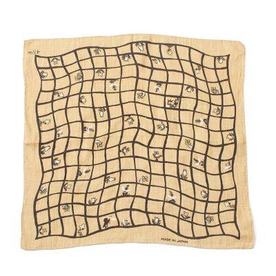 cotton bandana in nude colours and checks