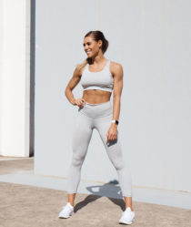 fitness influencer and sweat app trainer Kelsey Wells discusses body image and motherhood